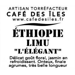 """Éthiopie Limu """"L'Élégant"""" - 250 g - 30€/kg"""