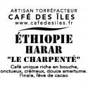 """Éthiopie Harar """"Le charpenté"""" - 250 g - 30€/kg"""