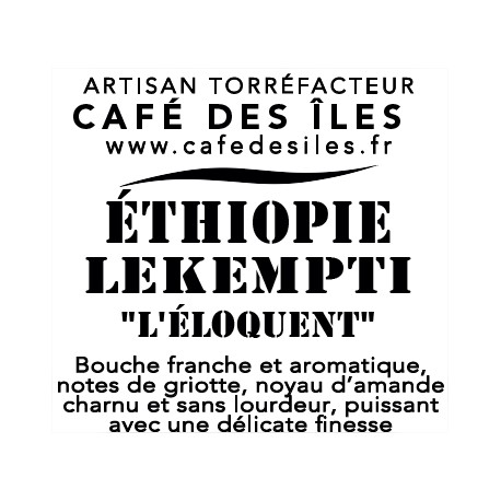 Éthiopie Lekempti - 250 g - 30€/kg
